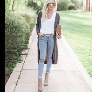 Urban Outfitters long gray cardigan